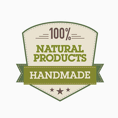 HANDMADE: 100% natural products
