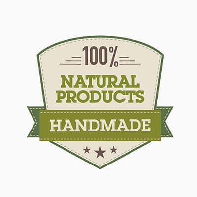 HANDMADE: 100% natural products