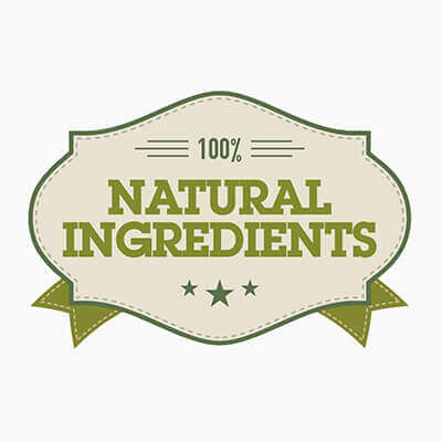 100% natural engredients